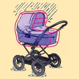 Дождевик для коляски-люльки, ПВХ ДТ-001/1