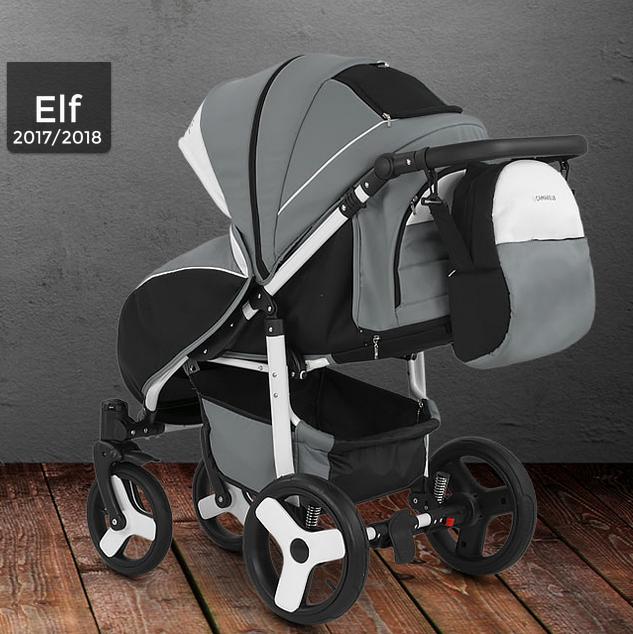 коляска camarelo elf вид сзади