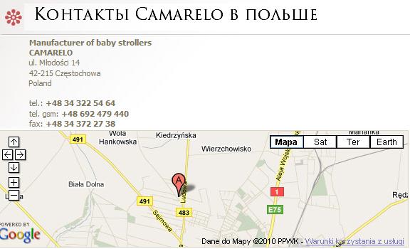 контакты Camarelo в Польше